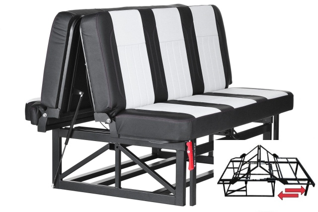 asiento cama tipo rock and roll bed